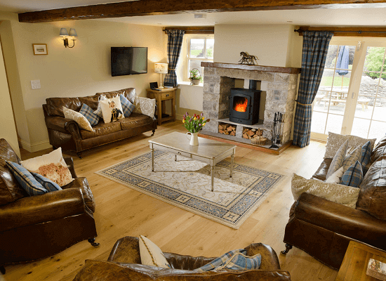 Mill House's living-room view of their Autumn Cottage
