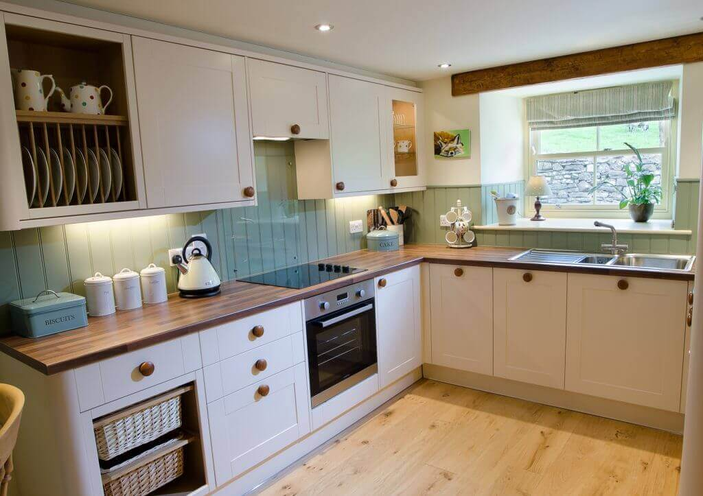 Mill House's self-catering holiday kitchen.