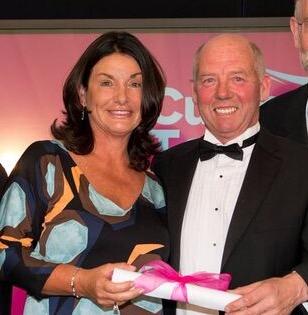 Mill House representatives accepting award at MC Cumbria Tourism Awards.