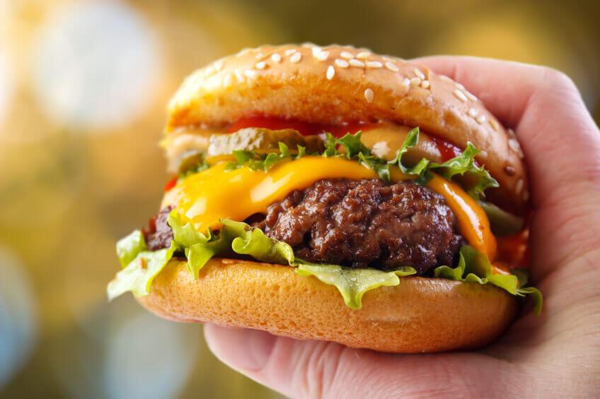 Simple recipe burger to serve four.